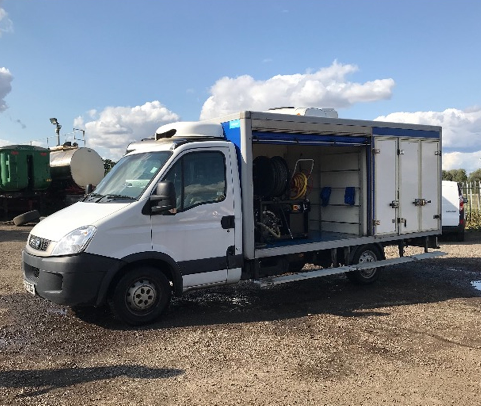 a675b3ddaa4017 Click to enlarge image. More Information. Harben 4000 psi   12 gpm jetter.  In Iveco Daily ex tesco delivery van