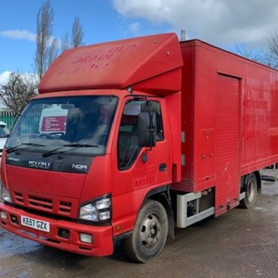 Isuzu 7.5t lorry with whale 270 bar @ 55 lpm jetter
