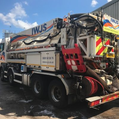 """2010 """"10"""" plate - Scania R440 CB 8x4 HNZ chassis c/w JHL Recycler 414"""